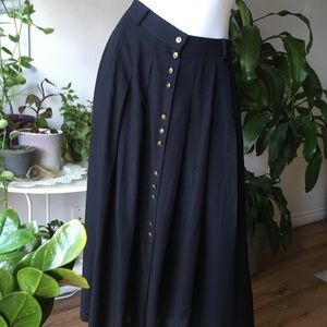 💥 2 for $40💥Vintage Maxi copper button skirt, sm